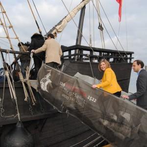 Irene Garcia y Victor Mora suben a cubierta