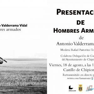 La novela 'Hombres Armados', del chipionero Antonio Valderrama, comienza a llegar a los mecenas