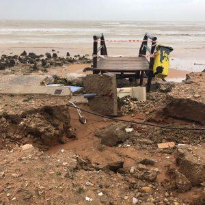 El Ayuntamiento de Chipiona elabora a petición de la Subdelegación del Gobierno un primer informe de los daños del temporal