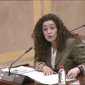 Inmaculada Nieto en la Comisión de Salud de hoy.