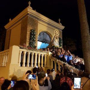 Nuestra Señora de Regla del Pinar se encuentra desde ayer en el Humilladero donde hoy se celebrará la ofrenda floral