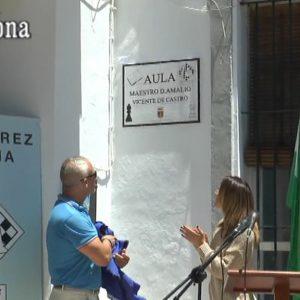 Chipiona perpetuó el sábado el recuerdo del gran promotor del ajedrez en la localidad, el maestro Amalio Vicente de Castro