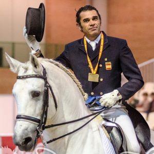 Ignacio López Porras medalla de bronce en una Copa del Rey de Doma Clásica que también cerró una exhibición de riendas largas