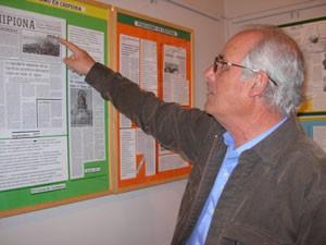 El periodista chipionero Virgilio Claver inaugura una exposición antológica sobre sus trabajos en El Correo de Andalucía.