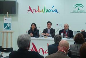 """La Mancomunidad presentó en """"Fitur 2009"""" la creación de una red de rutas y posadas ecuestres en la comarca del Bajo Guadalquivir"""
