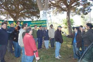 Ecologistas impiden la tala de pinos centenarios en la carretera de Chipiona-Rota