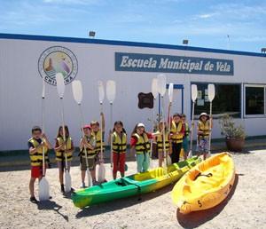 Clausurado en Chipiona el curso infantil de vela organizado por el Club de  Actividades Náuticas Deportivas