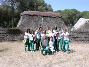 Visita de la escuela taller La Jara y el taller de empleo Hortus al parque de Doñana