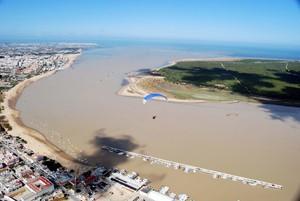 Travesía aérea Lebrija-Sanlúcar y curso de navegación de paramotores Bajo Guadalquivir