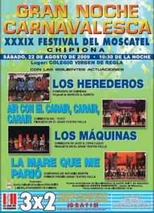 Convocada la Gran Noche Carnavalesca del Festival del Moscatel.-