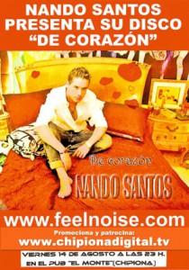 Los aficionados a la música romántica con toque flamenquito podrán disfrutar este viernes con la actuación de Nando Santos.-
