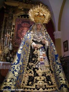 La Virgen de los Dolores expuesta en Besamannos este fin de semana en Chipiona