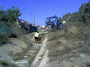 Limpieza  de arroyos en previsión a la temporada de lluvias(Chipiona)