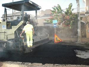 Comienza el asfaltado provisional del camino de Los Quemados