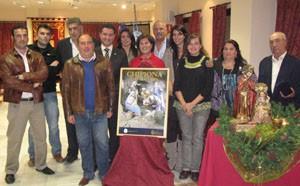 Mario Reyes, Isabel Fayos y Reyes Gallardo, presentados como Reyes Magos de Chipiona 2010.Paz Alarcon paje de Melchor.