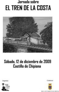 Convocada  una Jornada sobre el Tren de la Costa en el Castillo de Chipiona el próximo 12 de diciembre