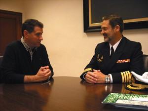 García recibe al nuevo Subdelegado de Defensa en Cádiz