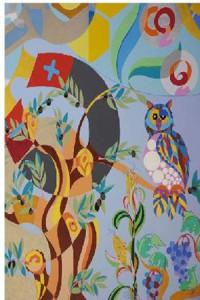La artista Uta Geub realiza un   mural para el Instituto Andaluz de Tecnología (IAT)