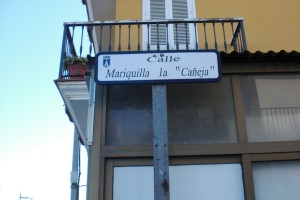 El PP agradece  al Equipo de Gobierno la colocación de forma inmediata del nuevo rótulo a la calle «Mariquilla La Cañeja»(Chipiona)