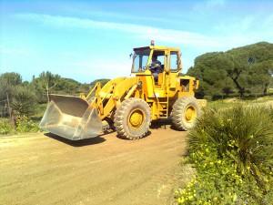 Puesta a punto de caminos rurales dañados por las lluvias(Chipiona)