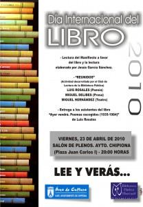 Convocados los actos conmemorativos del Día Internacional del Libro(Chipiona)