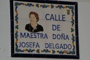 Homenaje a Josefa Delgado Jiménez con la nominación de una calle (Chipiona)