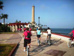 Comenzaron las visitas guiadas por Chipiona en bicicleta