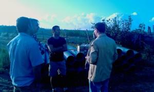 Agricultura acomete en obras de mejora de evacuación de pluviales en el camino del olivar (Chipiona)