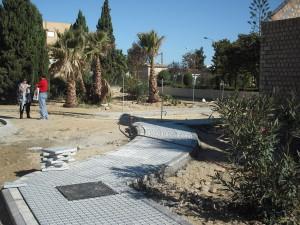 Buen ritmo de las obras del parque de educación vial de Chipiona