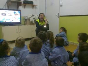Los alumnos del colegio Aparcero recibieron la pasada semana las primeras clases de educación vial