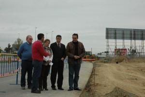 La diputada provincial de Infraestructuras repasa en Chipiona  las obras del municipio que están en marcha a través del AEPSA