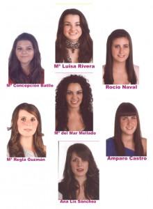Elegidas las siete damas aspirantes a Perla del Carnaval 2011 de Chipiona