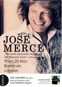 El jerezano JOSÉ MERCÉ cantará el próximo día 25 en el Barbican Hall de Londres.