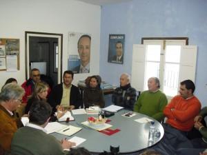 Antonio Peña  traslada a parlamentarios del Partido Popular su preocupación por la situación de proyectos locales