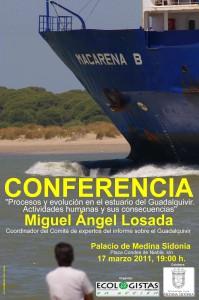 Ecologistas en Acción convocan conferencia sobre el dragado  del Guadalquivir el próximo día 17 en Sanlúcar de Bda.