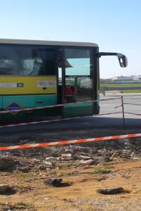 La parada de transporte escolar de la Escalereta  es insegura y podría ocasionar algún accidente