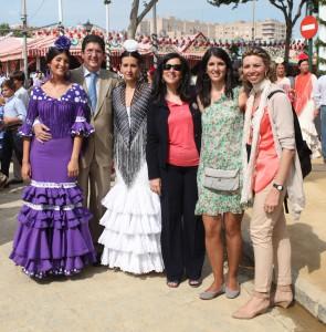 Abogacía y periodistas disfrutan de la feria en Sevilla