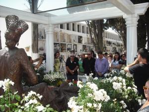 Flores para Rocío Jurado en el V aniversario de su fallecimiento