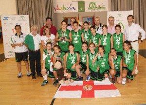 OS Unicaja Almería campeón del Cadeba minibasket femenino 2011