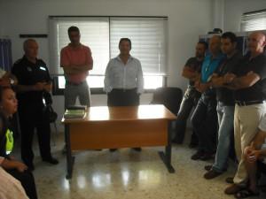 Antonio Peña muy satisfecho con la predisposición mostrada por la plantilla de la policía local en su primera toma de contacto