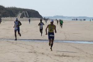 Gran éxito de participación en el triatlón de entreno celebrado el pasado domingo en las playas locales