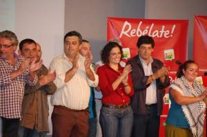 """El coordinador general apoyó las listas de IU en Cádiz convencido de que el discurso """"rebelde"""" de IU ha empezado a """"despertarse"""" entre la ciudadanía"""