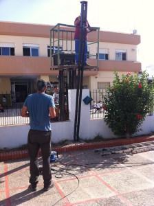 Finalizan los arreglos a los que se comprometió el Ayuntamiento en el colegio Divina Pastora