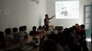 Los alumnos de quinto del Cristo de las Misericordias se acercan al mundo del cómic con el autor Abel Ippólito