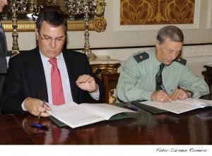 Diputación y Guardia Civil suscriben la relación de reformas y reparaciones en acuartelamientos de la provincia