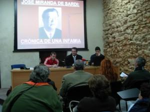 Concurrida y emotiva conferencia del historiador Sebastián Guzmán sobre la figura del poeta Miranda de Sardi.
