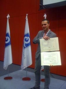 El ayuntamiento de Chipiona recibe en FITUR la Q de calidad turística de la playa Cruz del Mar