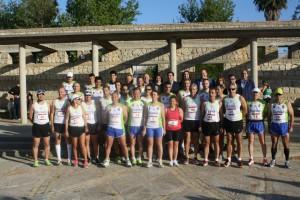 42 atletas de Chipiona tomaron la salida en una Media Maratón Costa de la Luz en la que la climatología acompañó