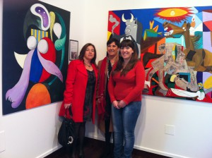 La muestra de pinturas de alumnos del Instituto Caepionis recibe 856 visitas