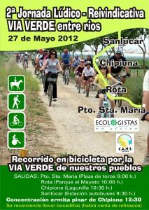 """Convocada para este domingo la 2ª jornada ludico-reivindicativa """"via verde entre rios"""" El Puerto y Sanlúcar"""